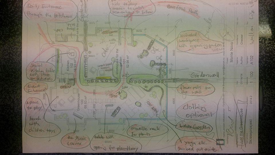 Idea Sketch on the Monte Novo Greenhouse